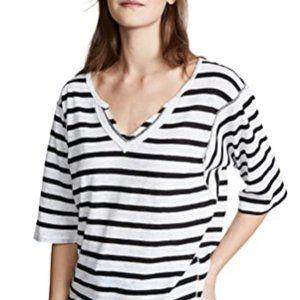 Tops - Women's short sleeve stripe T-shirt